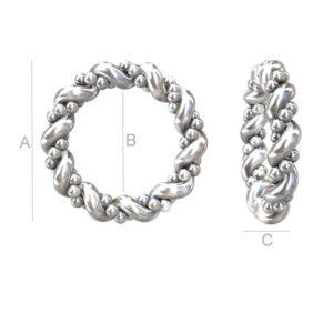 """""""Karma"""" ring ripats AG925 A=12"""