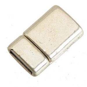 Hõbedane (ant.) magnet kinnitus 10x2 lapikule nahale