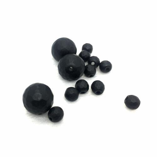 Tahutud must / matt ahhaat 8 mm