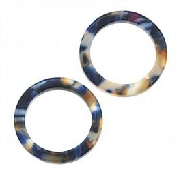 Atsetaat ripats-kõrvarõngaste toorik lm.24 mm