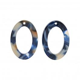 Atsetaat ripats-kõrvarõngaste toorik lm.15x22 mm