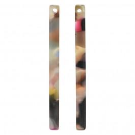 Atsetaat ripats-kõrvarõngaste toorik lm.3x38.5 mm
