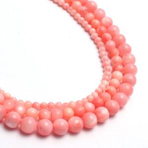"""""""Shell"""" pärl roosa 8 mm"""